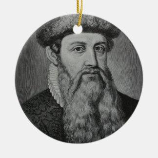 Johannes Gutenberg Ornement Rond En Céramique