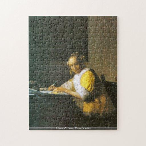 Johannes Vermeer - femme dans le puzzle jaune
