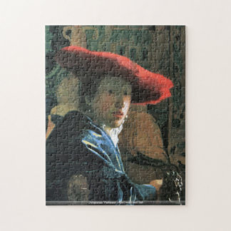 Johannes Vermeer - fille avec le puzzle rouge de c
