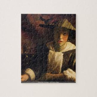 Johannes Vermeer - fille avec un puzzle de cannelu