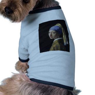 Johannes Vermeer - fille avec une boucle d oreille T-shirts Pour Toutous