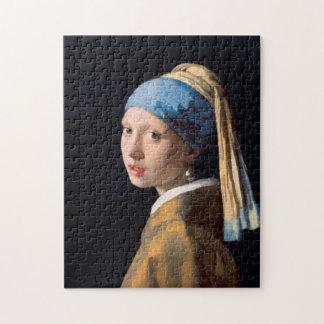JOHANNES VERMEER - Fille avec une boucle d'oreille Puzzle
