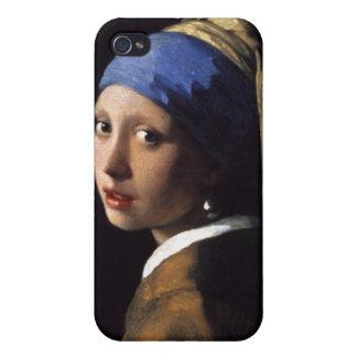 Johannes Vermeer, fille avec une perle Earing Coque iPhone 4