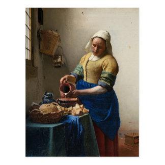 Johannes Vermeer - la carte postale de trayeuse