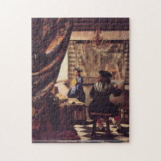 Johannes Vermeer - l'allégorie de la peinture Puzzle Avec Photo