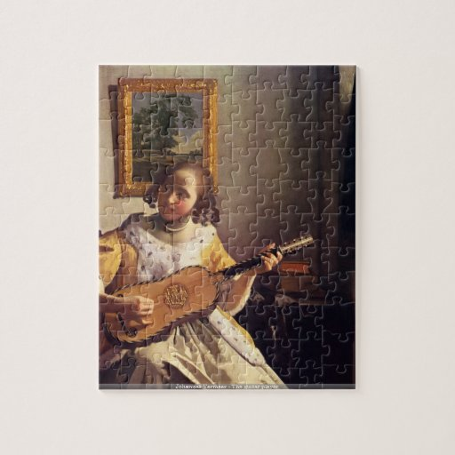 Johannes Vermeer - le puzzle de joueur de guitare