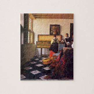 Johannes Vermeer - le puzzle de leçon de musique
