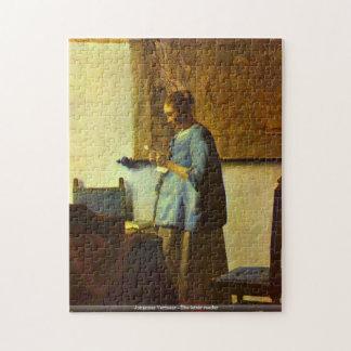 Johannes Vermeer - le puzzle de lecteur de lettre