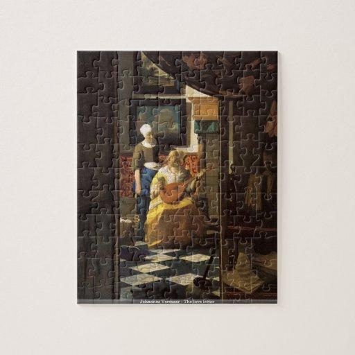 Johannes Vermeer - le puzzle de lettre d'amour