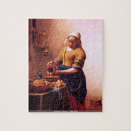 Johannes Vermeer - puzzle de domestique de lait