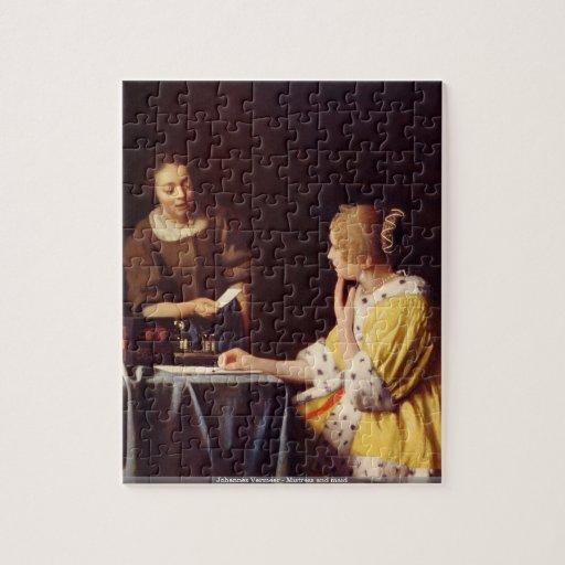 Johannes Vermeer - puzzle de maîtresse et de domes