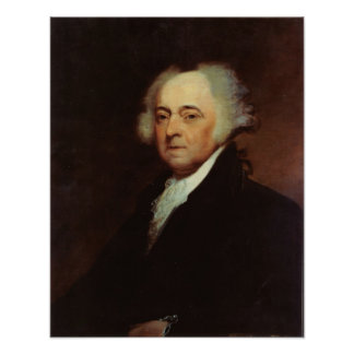 John Adams par le calcinateur B Durand Posters