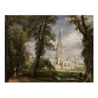 John Constable - cathédrale de Salisbury Carte Postale