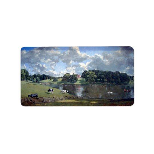 John Constable - parc de Wivenhoe Étiquette D'adresse