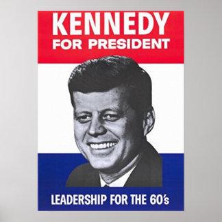 John F. Kennedy pour le président Poster