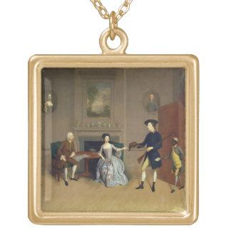 John Orde, avec son épouse Anne, et son fils plus  Collier Plaqué Or