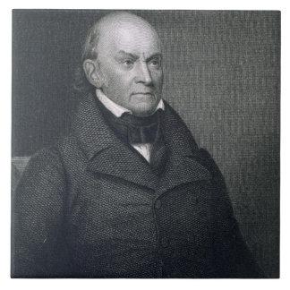 John Quincy Adams, gravé par John Wesley Paradis Grand Carreau Carré
