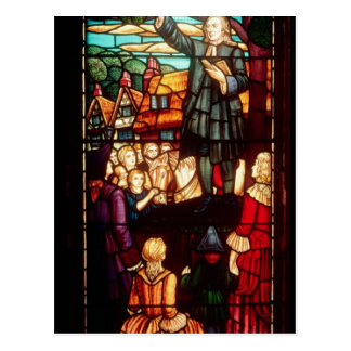 John Wesley prêchant les évangiles en Angleterre Cartes Postales