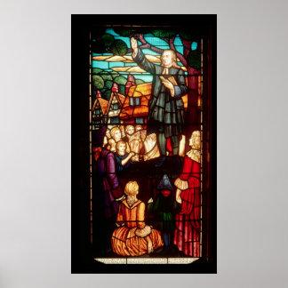 John Wesley prêchant les évangiles en Angleterre Posters