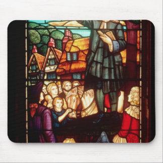 John Wesley prêchant les évangiles en Angleterre Tapis De Souris