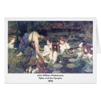 John William Waterhouse - Hylas et les nymphes Cartes De Vœux