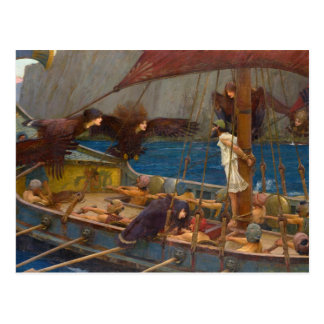 John William Waterhouse - Ulysse et les sirènes Carte Postale