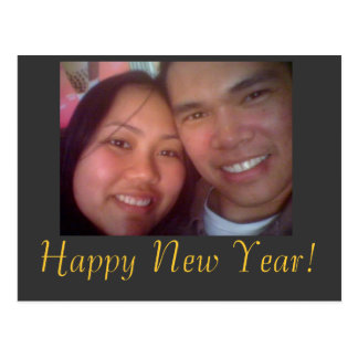 johnandi, bonne année ! carte postale