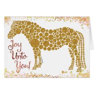 Joie à vous carte de voeux de poney d'or