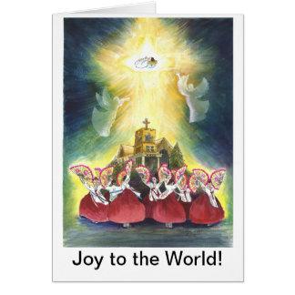Joie au monde carte de vœux