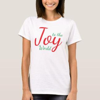Joie au T-shirt de Noël du monde