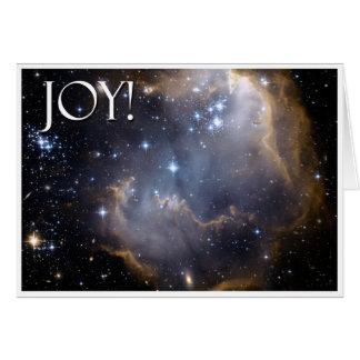Joie !  Carte de voeux céleste