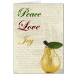 Joie d'amour de paix de carte de Noël