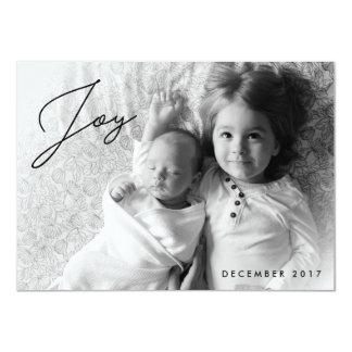Joie de vacances - carte photo de Noël de famille