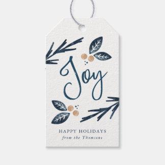 Joie de vacances, étiquettes de cadeau
