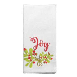 Joie et serviettes de tissu de fête de vacances de