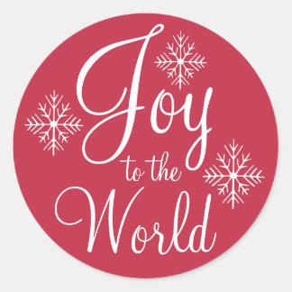 Joie rouge aux autocollants de Noël du monde
