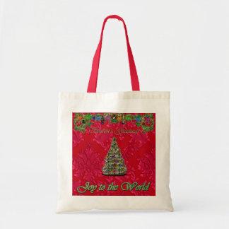 Joie rouge de damassé de Noël au sac du monde