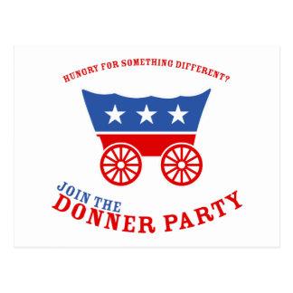 Joignez la carte postale de partie de Donner