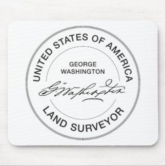 Joint d'arpenteur de terre de George Washington Tapis De Souris