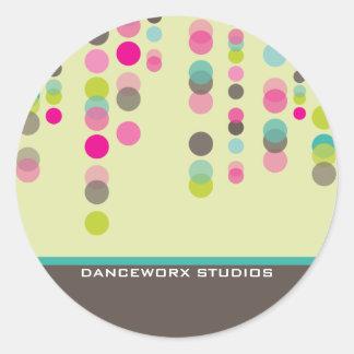 JOINT D'AUTOCOLLANT : : discotek 1 Sticker Rond