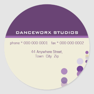 JOINT D'AUTOCOLLANT : : discotek 7 Sticker Rond
