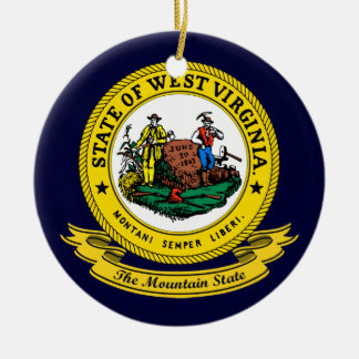 Joint de la Virginie Occidentale Ornement Rond En Céramique