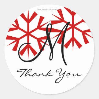 Joint de Merci du monogramme M de mariage de Sticker Rond