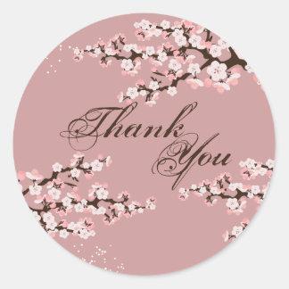 Joint de Merci - mariage rose poussiéreux de Sticker Rond