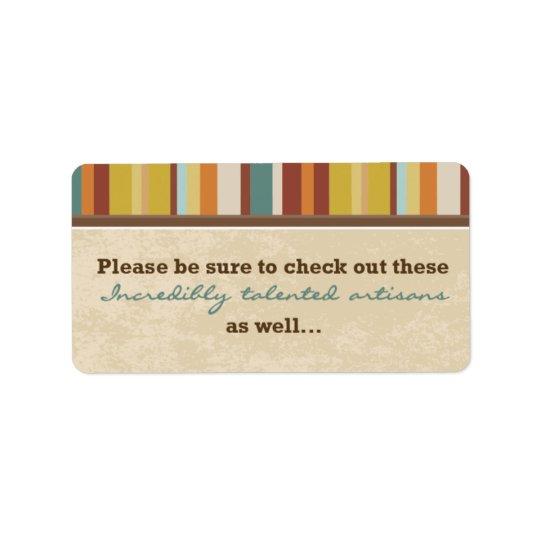 Joint de poche de carte de visite (pour des étiquette d'adresse