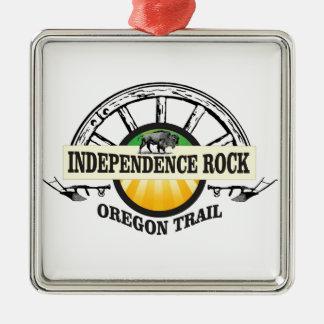 Joint de roche de l'indépendance ornement carré argenté