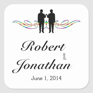 Joint d'enveloppe de mariage de marié d'élégance sticker carré
