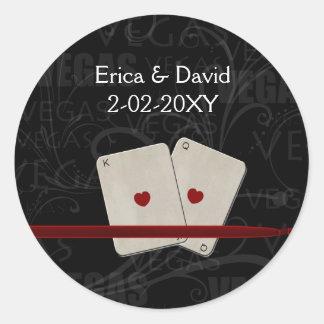 Joint d'enveloppe de mariage de Vegas Adhésifs Ronds