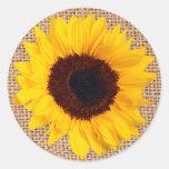 Joint jaune d'enveloppe d'autocollant de toile de