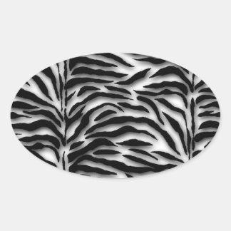 Joint noir d'enveloppe de zèbre sticker ovale